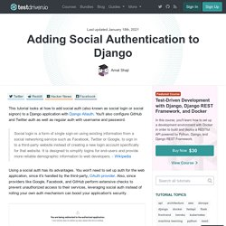 Adding Social Authentication to Django
