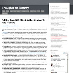 Adding Easy SSL Client Authentication To Any Webapp « Thoughts on Security