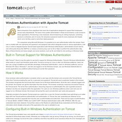 Windows Authentication with Apache Tomcat