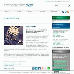 UK Payments Council to Set Minimum Standards for Authentication