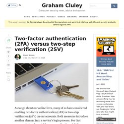 Two-factor authentication versus two-step verification