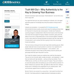 Truth Will Out - Why Authenticity is the Key to Growing Your Business