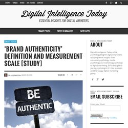 'Brand Authenticity' Definition and Measurement Scale [Study]