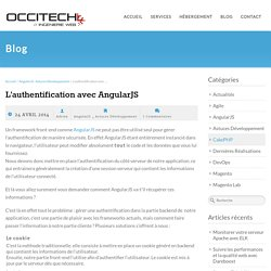 L'authentification avec AngularJS