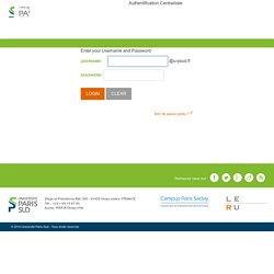 Service d'Authentification Centralisée - Université Paris-Sud