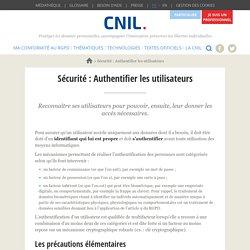 Sécurité : Authentifier les utilisateurs