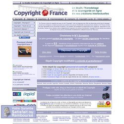 Le COPYRIGHT © OFFICIEL, Seul véritable COPYRIGHT © officiel, COPYRIGHT international par Huissier de Justice. Protection © DEPOT de Créations, Sites Web, Textes, Images, Marques, Inventions, Concepts, Idées, DEPOT NUMERIQUE