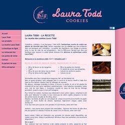 L'authentique recette des cookies Laura Todd
