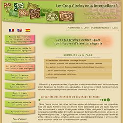 Agroglyphes.fr - Les agroglyphes authentiques sont l'œuvre d'êtres intelligents... - Daniel HARRAN