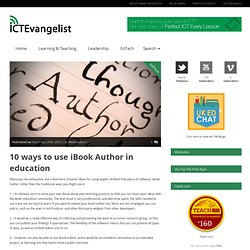 10 ways to use iBook Author in education