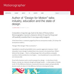 """Author of """"Design for Motion"""" talks industry, education and the state of design"""