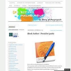 iBook Author : Première partie