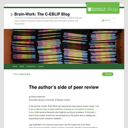 The author's side of peer review