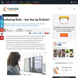 Authoring Tools – Are You Up To Date?