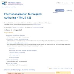 Authoring HTML & CSS