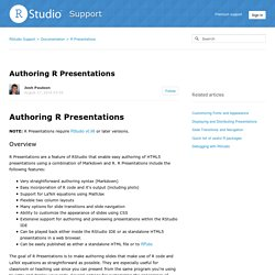 Authoring R Presentations
