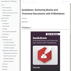 Authoring Books and Technical Documents with R Markdown