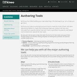 Rapid E-learning Authoring Tools