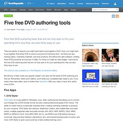 Five free DVD authoring tools