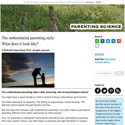 The authoritarian parenting style: What does it look like?