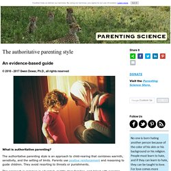 The authoritative parenting style: An evidence-based guide