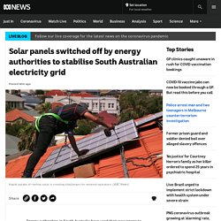 Solar panels switched off by energy authorities to stabilise South Australian electricity grid