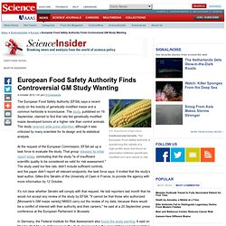science: European Food Safety Authority Finds Controversial GM Study Wanting