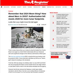 Remember that 2024 Moon thing? How about Mars in 2033? Authorization bill moots 2028 for more lunar footprints