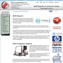 Dell Authorized Repairs in Nassau County by A1 Rivoli