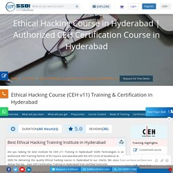 Best Ethical Hacking Institute in Hyderabad