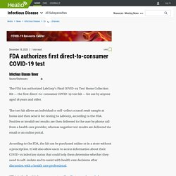 FDA authorizes first direct-to-consumer COVID-19 test