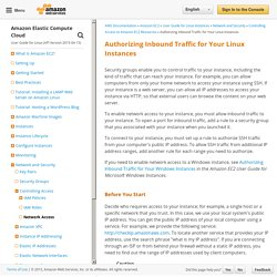 Authorizing Inbound Traffic for Your Linux Instances