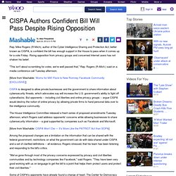 CISPA Authors Confident Bill Will Pass Despite Rising Opposition