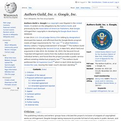 Authors Guild, Inc. v. Google, Inc.