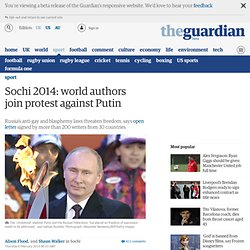 Sochi 2014: world authors join protest against Putin