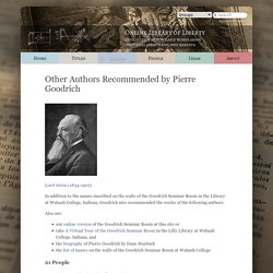 Other Authors Recommended by Pierre Goodrich