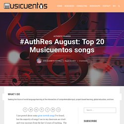 #AuthRes August: Top 20 Musicuentos songs