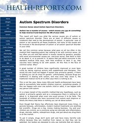 Autism Causes And Corrections
