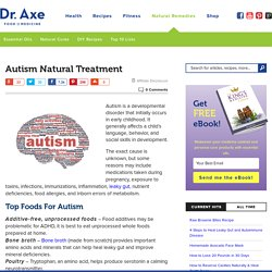 Autism Natural Treatment