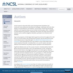 Autism Policy Issues Overview