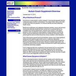 Autism Supplement Overview