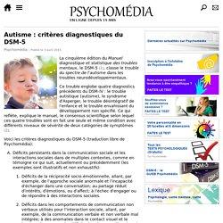 Autisme : critères diagnostiques du DSM-5