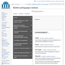 Autisme Duree et Objectifs de la formation — Wikiversité