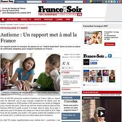 Autisme : Un rapport met à mal la France