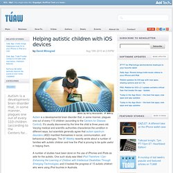 Helping autistic children with iOS devices