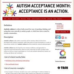 Autistic Culture