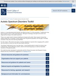 Autistic Spectrum Disorders Toolkit