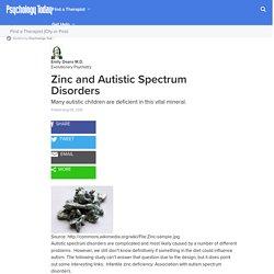 Zinc and Autistic Spectrum Disorders
