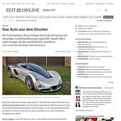 3D-Auto: Das Auto aus dem Drucker