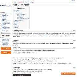 Auto-Dialer Addon - Kolmisoft Wiki